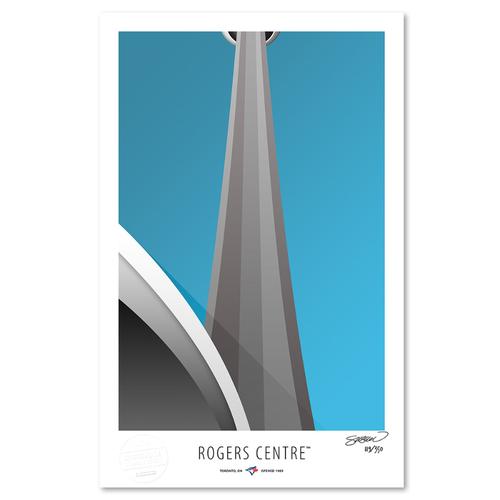 Photo of Rogers Centre - Collector's Edition Minimalist Art Print by S. Preston #119/350  - Toronto Blue Jays