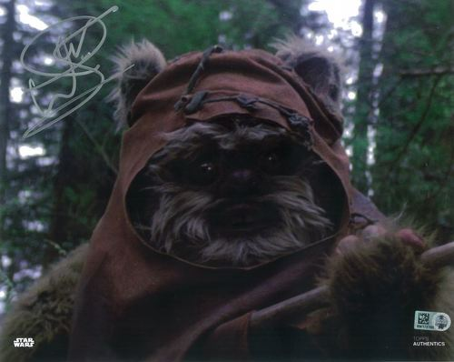 Warwick Davis As Wicket  8X10 Autographed IN 'SILVER' INK PHOTO