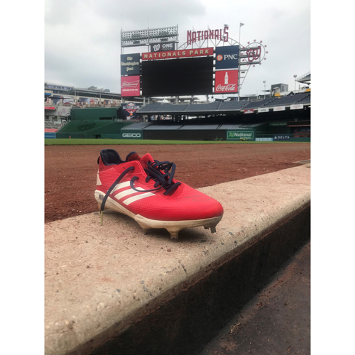 Photo of Autographed Trea Turner Right Cleat - Pair 2