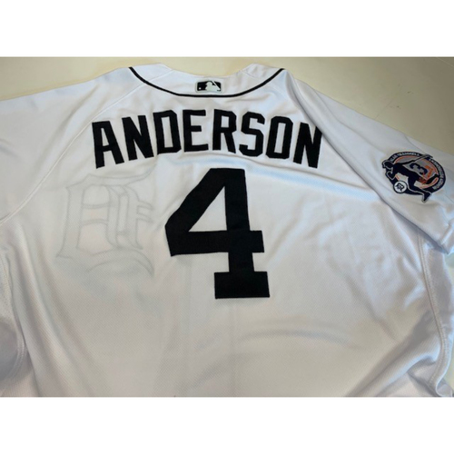 Photo of Team-Issued Alan Trammell Number Retirement Jersey: Rick Anderson