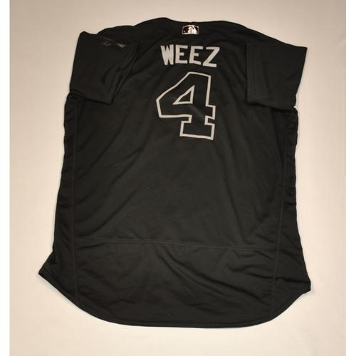 "Photo of Walt ""WEEZ"" Weiss Atlanta Braves Game-Used 2019 Players' Weekend Jersey"
