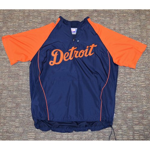 Photo of Kenny Rogers Detroit Tigers Batting Practice Worn Pullover #37 (MLB AUTHENTICATED)