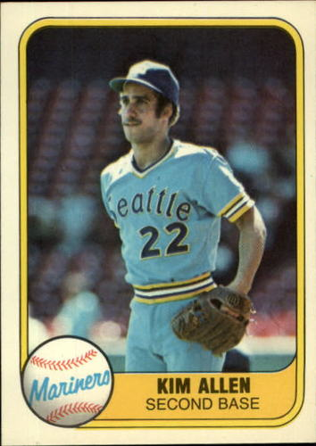 Photo of 1981 Fleer #612 Kim Allen RC