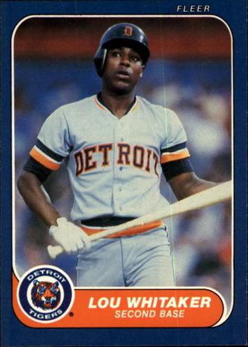 Photo of 1986 Fleer #242 Lou Whitaker