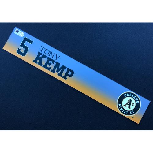 Photo of Game Used 2020 Spring Training Locker Nameplate - Tony Kemp