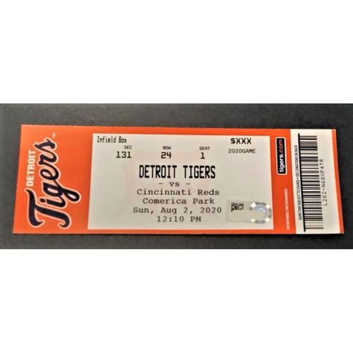 Photo of 8/02/20 - Detroit Tigers vs Cincinnati Reds Home Games #6 and #7 Comerica Park Limited Edition Full Game Ticket - First 7-inning Doubleheader in MLB History, Alexander Consecutive Strikeout MLB Record Game (MLB AUTHENTICATED)