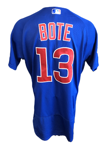 Photo of David Bote Team-Issued Jersey -- 2020 Season -- Size 44 + 1B