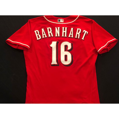 Photo of Tucker Barnhart -- 2020 Spring Training Jersey -- Game-Used -- Size 44