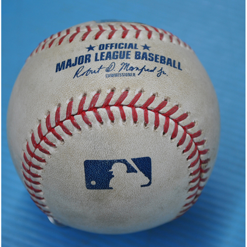 Photo of Game-Used Baseball - CHC at PIT - 9/3/2020 - Pitcher - JT Brubaker, Batter - Kyle Schwarber (CHC), Top 2, Single