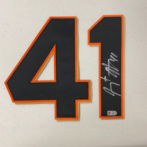 Photo of #41 Jeremy Affeldt Autographed Number (*No Jersey Included* JERSEY NUMBERS ONLY)