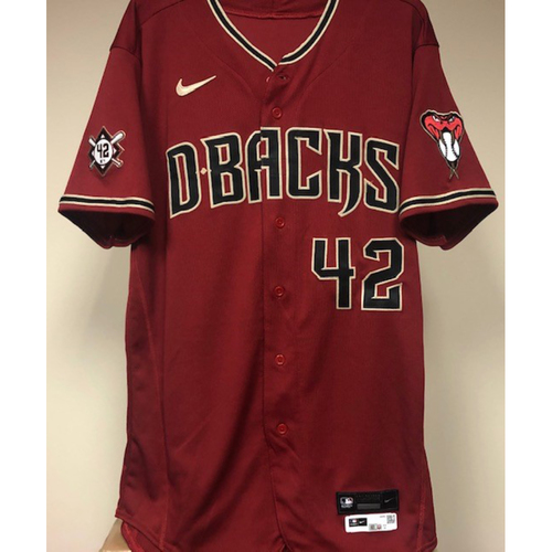 Photo of Carson Kelly Game-Used 2021 Jackie Robinson Day Jersey - 4/15/2021 vs. Nationals - Kelly Goes 2-4 with a Home Run off Patrick Corbin and a Single off Kyle Finnegan - Size 44