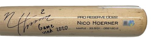 Photo of Nico Hoerner Team-Issued Cracked Bat -- 2020 Season
