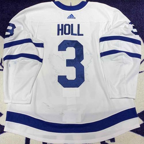 Justin Holl 2019-20 Set 1 Away Game Worn Jersey