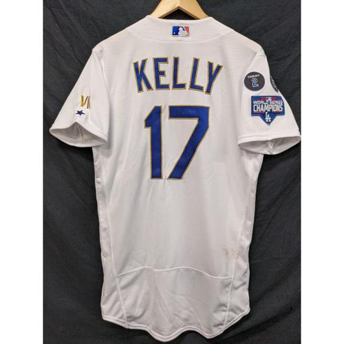 Photo of Joe Kelly Game-Used 2nd Win, Gold Trim Re-Opening Day Jersey - 6/15/21