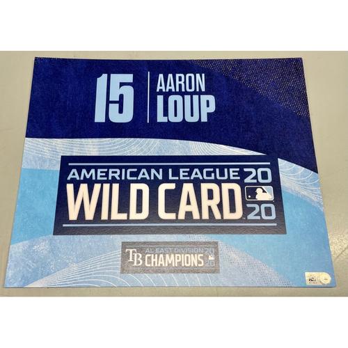 Photo of Team Issued ALWCS Locker Tag: Aaron Loup - 2020 Postseason