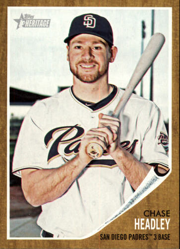 Photo of 2011 Topps Heritage #176 Chase Headley