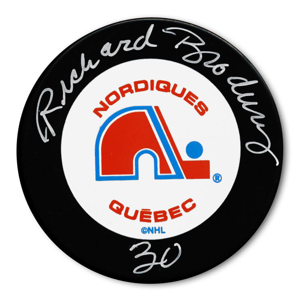 Richard Brodeur Quebec Nordiques Autographed Puck