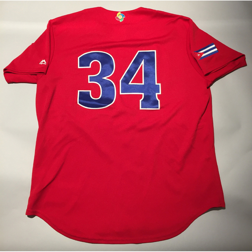 2017 WBC: Cuba Game-Used Batting Practice Jersey, #34