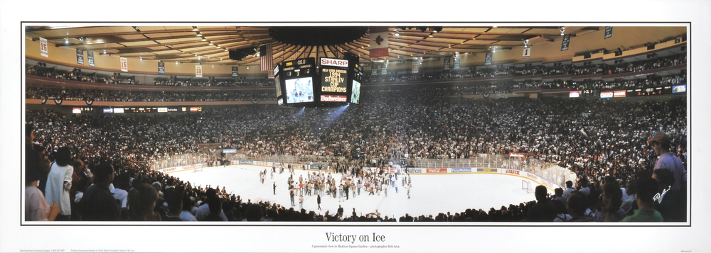 New York Rangers Victory On Ice 1994 SC Celebration Unsigned Panoramic Photograph