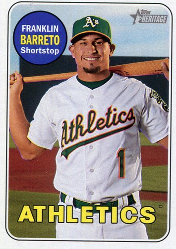 Photo of 2018 Topps Heritage #332 Franklin Barreto