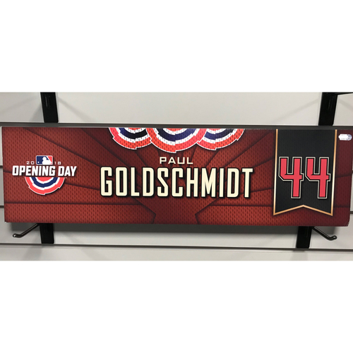 Photo of 2018 Paul Goldschmidt Opening Day Nameplate