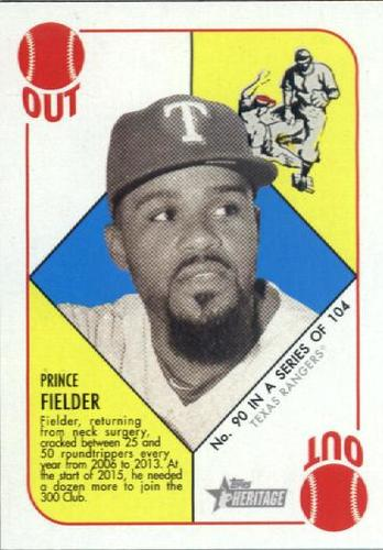 Photo of 2015 Topps Heritage '51 Collection #90 Prince Fielder