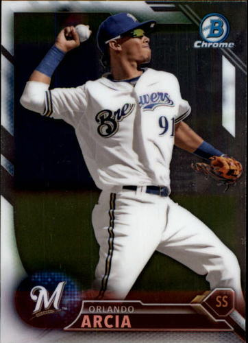 Photo of 2016 Bowman Chrome Prospects #BCP2 Orlando Arcia