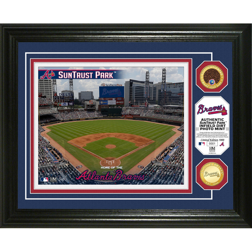 Photo of Serial #1! Atlanta Braves Dirt Coin Photo Mint