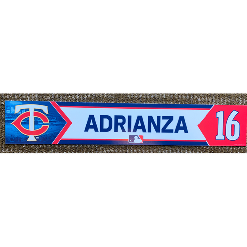 Photo of 2018 Game-Used Ehire Adrianza Minnesota Twins Lockertag