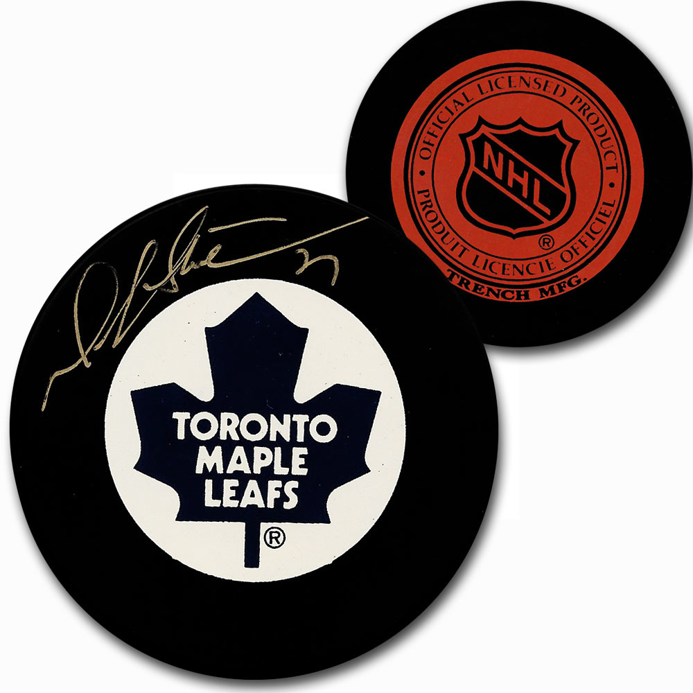 Darryl Sittler Autographed Toronto Maple Leafs Vintage Trench Puck