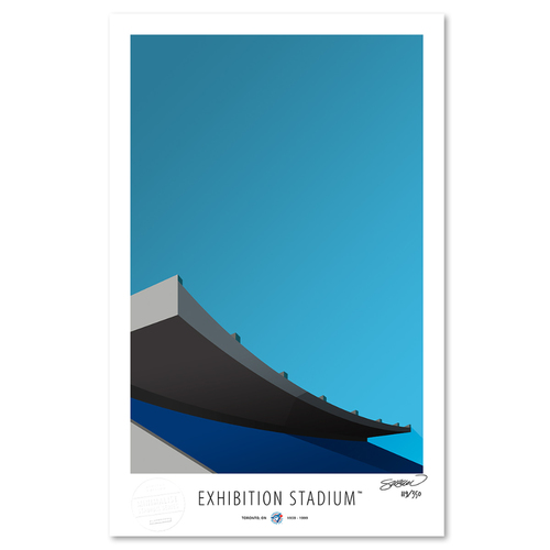 Photo of Exhibition Stadium - Collector's Edition Minimalist Art Print by S. Preston #119/350  - Toronto Blue Jays