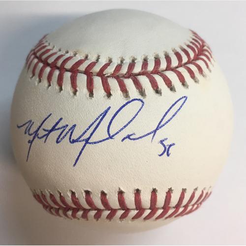 Miles Mikolas Autographed Baseball