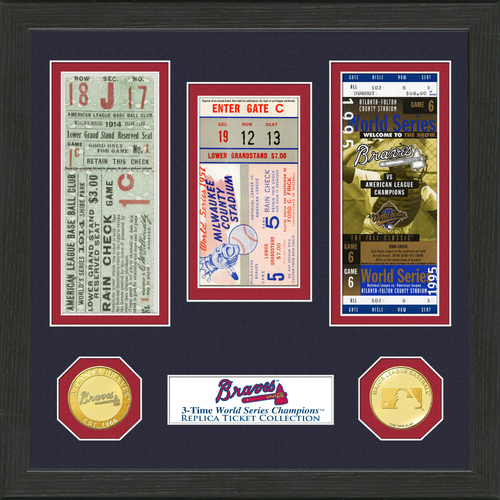Photo of Atlanta Braves World Series Ticket Collection