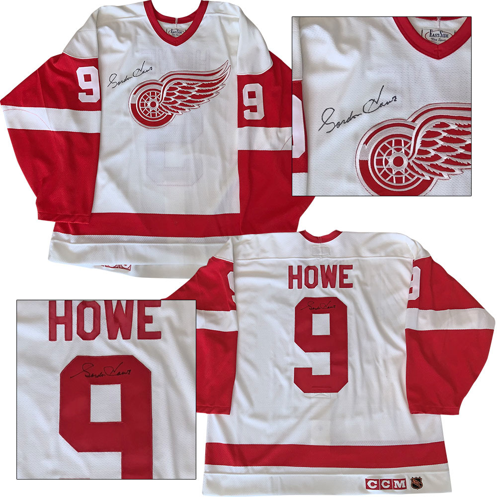 save off 502a6 79d12 Gordie Howe Twice Autographed Detroit Red Wings Pro Jersey ...