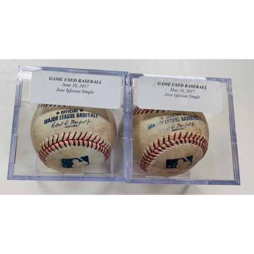 Photo of Game-Used Baseballs: Jose Iglesias Singles