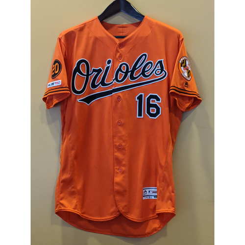 Photo of Trey Mancini - Orange Alternate Jersey: Game-Used (Solo HR)