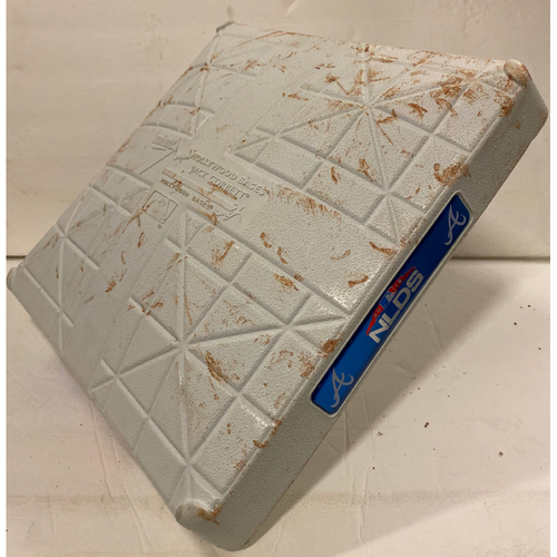 Photo of 2018 NLDS Game Used Base - Third Base Used During 9th Inning - 10/8/18 - Dodgers Clinch