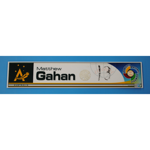 Photo of 2006 Inaugural World Baseball Classic: Matthew Gahan Locker Tag - AUS