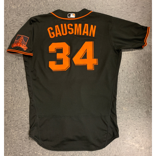 Photo of 2020 Team Issued Spring Training Jersey - #34 Kevin Gausman - authenticated 8/14/20 - size 44