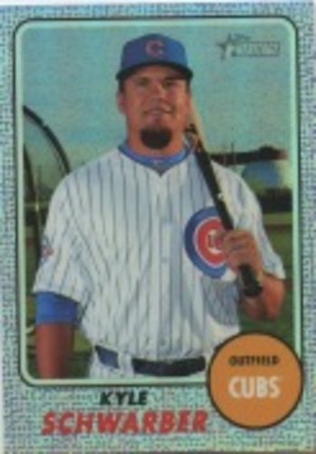 Photo of 2017 Topps Heritage Chrome Purple Refractors #THC423 Kyle Schwarber