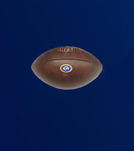 Photo of Rams Game Used Football - (10/18/2020 VS. San Francisco 49ers)