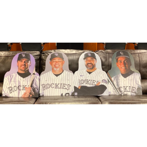 Photo of Colorado Rockies Foundation: Blake Street Bombers Cutout Set- Larry Walker, Dante Bichette, Vinny Castilla, and Andres Galarraga.