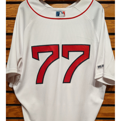 Photo of Oscar Hernandez #77 Team Issued Home White Jersey