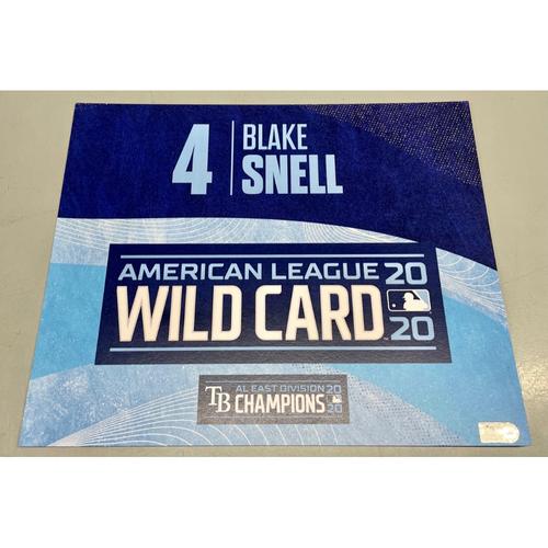 Photo of Team Issued ALWCS Locker Tag: Blake Snell- 2020 Postseason