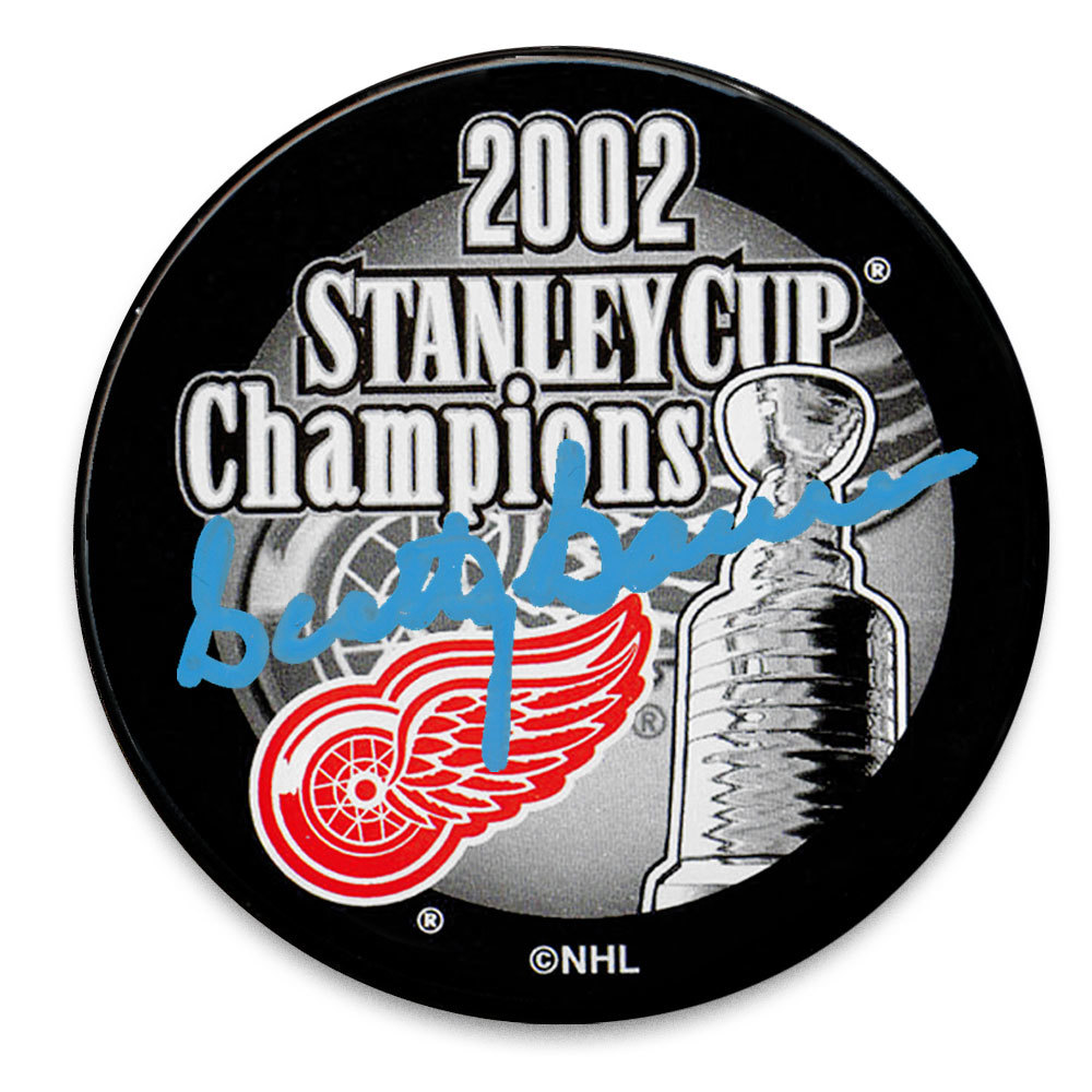 Scotty Bowman Detroit Red Wings 2002 Stanley Cup Champions Autographed Puck