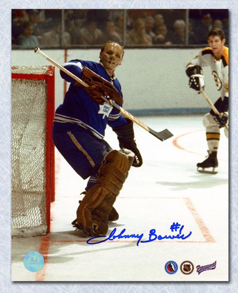 Johnny Bower Toronto Maple Leafs Autographed Rare Goalie Mask 8x10 Photo
