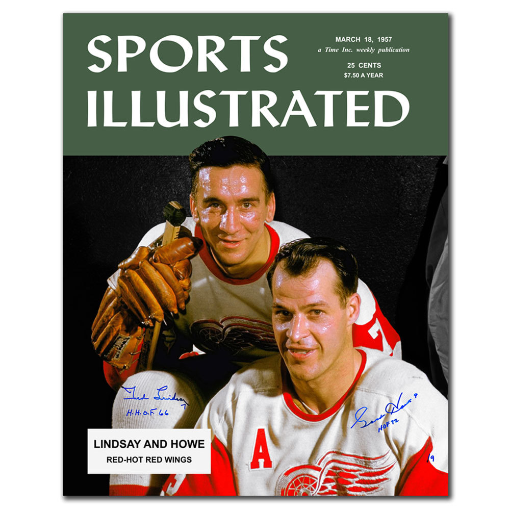 Gordie Howe & Ted Lindsay Sports Illustrated Detroit Red Wings Limited Edition Autographed 16x20