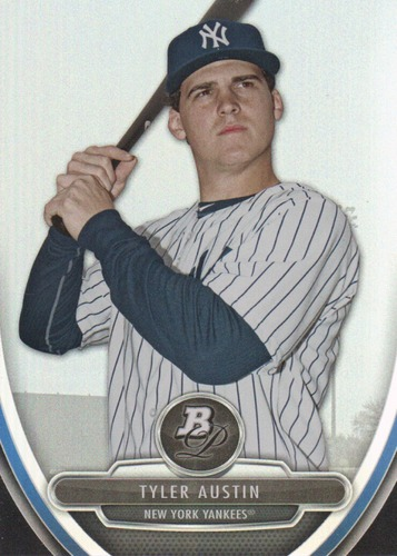 Photo of 2013 Bowman Platinum Prospects #BPP43 Tyler Austin -- Yankees post-season