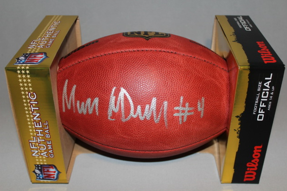 NFL - SEAHAWKS MALIK MCDOWELL SIGNED AUTHENTIC FOOTBALL