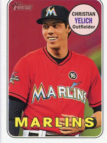 Photo of 2018 Topps Heritage #341 Christian Yelich